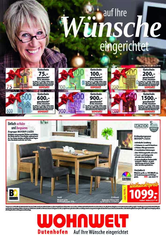 Unser aktuelles Prospekt   Wohnwelt Dutenhofen
